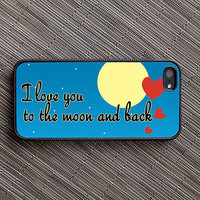 I Love You to the Moon and Back iPhone Case - unique iphone cases, quote, monogrammed, initial
