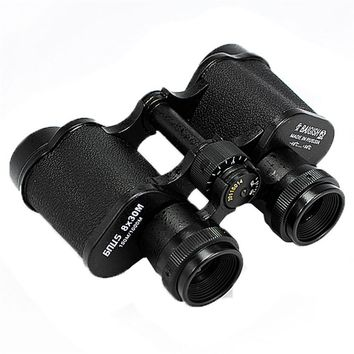 All metal 8X30  150m/1000m Russian Hd wide-angle Central Binoculars Telescope High Power Low Light Level Night Vision Glasses