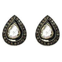 Victorian Rose Cut Diamond & Polki Earrings - WSE14004