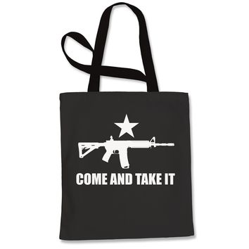 Come And Take It 2nd Amendment Gun Rights Shopping Tote Bag