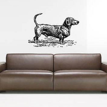 Dachshund Dog Puppy Breed Pet Animal Family Wall Sticker Decal Mural 2749