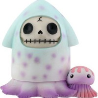 Furry Bones Squeed Purple and Blue Figurine