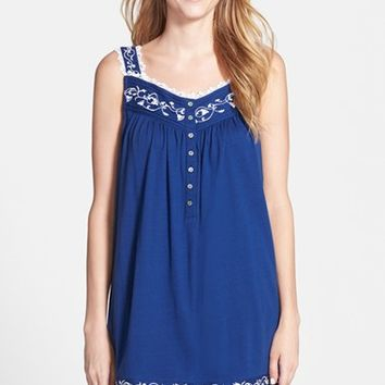 Women's Eileen West 'Ocean Scroll' Short Nightgown ,