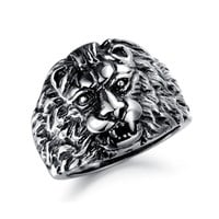 Ancient European Style Lion Stainless Steel Ring