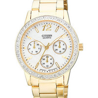 Citizen Watch, Women's Quartz Gold Tone Stainless Steel Bracelet 35mm ED8092-58D - All Watches - Jewelry & Watches - Macy's