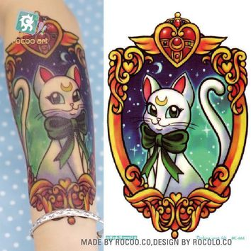 Tattoo Sticker   19X12cm Sailor moon HD Large Body Art