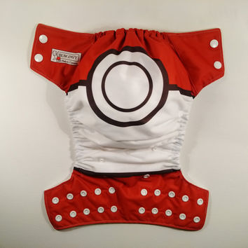 Red and White Ball Pocket or Cover