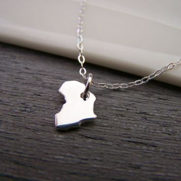 Africa Tiny Charm Necklace Simple Jewelry Everyday Necklace / Gift for Her
