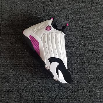"AIR jordan 14 ""White&Pink"" GS Women Basketball Shoes"