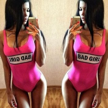 New fashion Letter one-piece swimsuit Sexy Women swimwear Bath Swimwear -0417