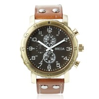 "Breda Men's 1635-Gold/brown ""Steve"" Watch at MYHABIT"