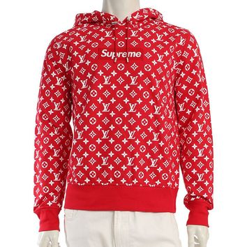 LOUIS VUITTON LOUIS VUITTON X Supreme Box Logo Hooded Sweatshirt Top Monogram