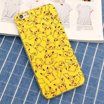 Cute Creative Pokemon Pikachu Protective Case For Iphone 5s 5 se 6 6s plus + free gift box