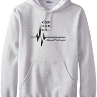 funny men hoodies EKG Heart Rate Paramedic men sweatshirts Keep Calm and...Not That Calm print 2017 spring winter fleece hoodie