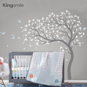 New Huge Tree Wall Sticker Vinyl Removable PVC Modern Nursery Wall Art Decals Poster Mural Stickers for Kids Rooms Home Decor