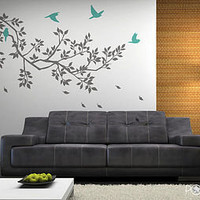 wall stickers: spring branches grey by zazous | notonthehighstreet.com