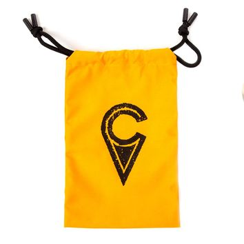 Kendama Drawstring Bag - Craft Logo - Golden Orange