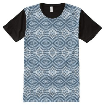 Blue Animal Pattern#48c American Apparel Buy Onlin All-Over-Print T-Shirt