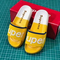 Supreme Suprize Design Yellow White Sandals - Best Online Sale