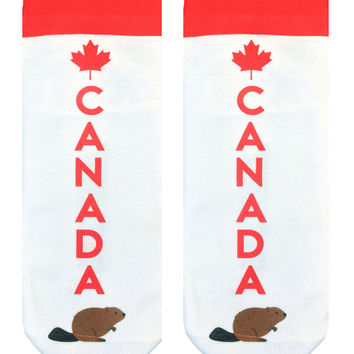 Go Canada Ankle Socks