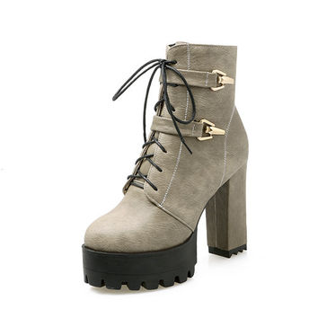 Platform Ankle Boots up to Size 11 (26.5cm - EU/CN 43)