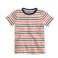 crewcuts Boys Pocket T-Shirt In Blazing Orange Stripe