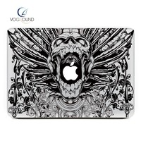 Free Shipping Black Scary Skull Skeleton Sticker Decal  For Apple macbook Air Pro Retina 11 12 13 15 laptop For Mac 13.3 inch