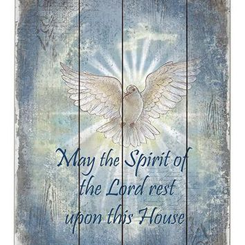 Wood Pallet Sign - May the Spirit of the Lord Rest Upon This House