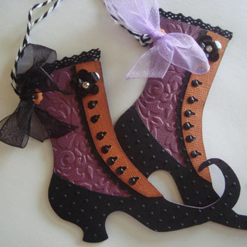 Halloween Gift Tags, Witch Shoes, Halloween Party, Witch Ball, Trick or Treat tag, Thank you tag