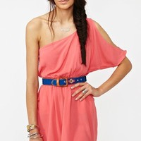 Slashed Side Dress - Coral  in  Clothes Dresses at Nasty Gal