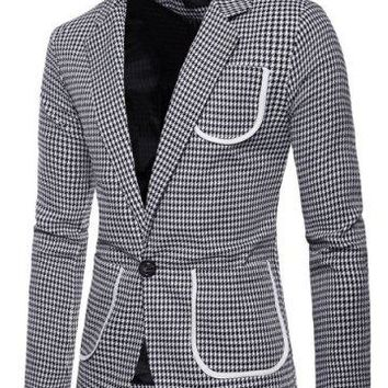 1960's Mens Hounds Tooth Jacket - In the Style of....