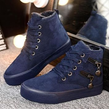 ac PEAPON Hot Deal On Sale Winter Patchwork Thick Crust Boots [79791456281]