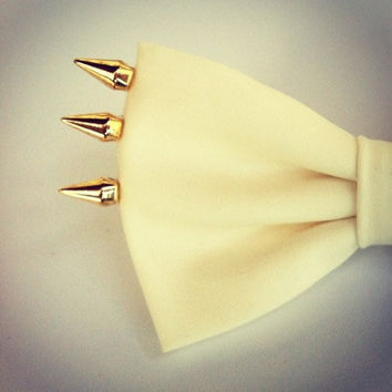 Exclusive Edition  Gold Spikes Bow  hair bow by colordrop on Etsy