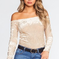 Material Girl Off The Shoulder Top - Ivory
