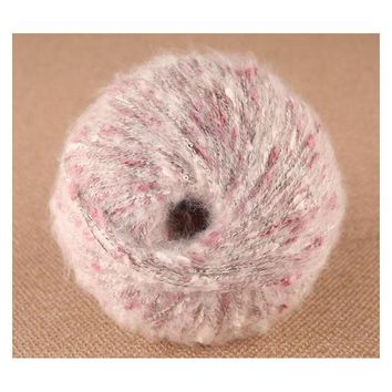 250g/Lot Angora Mohair Yarn Crochet Hand Knitting Fancy Yarn Soft Baby Warm Skein Sweater Coat garn laine a tricoter haak garen