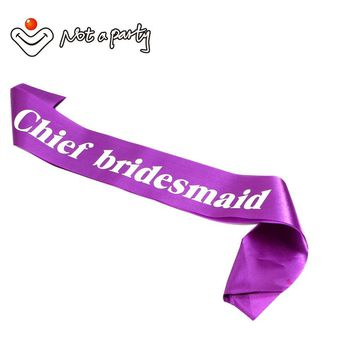 60%off for 3pcs wedding party accessories Bride to be sash chief bridesmaid gift hen bachelorette birthday event party supplies