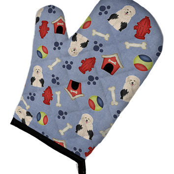 Dog House Collection Old English Sheepdog Oven Mitt BB2709OVMT