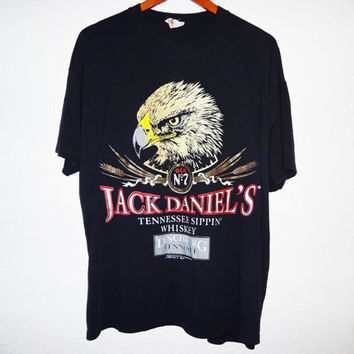 Vintage 1990 Jack Daniels Old No.7 Eagle Shirt - XL-