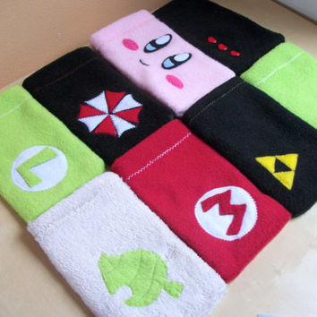 Nintendo 3DS Pouches:  Pokemon, Animal Crossing,  Zelda, Kirby, Mario, Luigi, Resident Evil