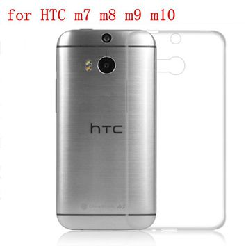 Transparent Soft TPU Silicon 5.0inchs  for HTC One M8 Case For HTC One M8 M8s Ce