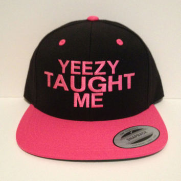 Yeezy taught me snapback one size fits all kanye west