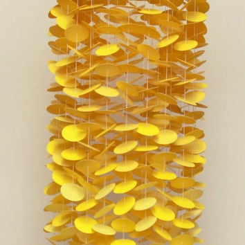 Yellow Ombre Mobile / Baby Mobile / Crib Mobile / Nursery Mobile / Circle Mobile / Ombre Mobile / Paper Mobile / Floating Mobile