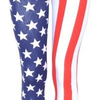 Style Usa American Flag Leggings Pants (M/L (10-12))