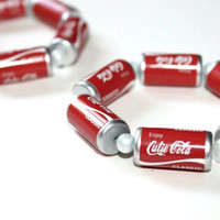 Coca Cola Coke bracelet  cute kitsch kawaii food by pastelclouds