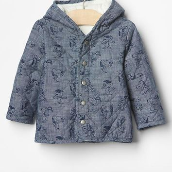 Gap Babygap + Peanuts Quilted Chambray Jacket
