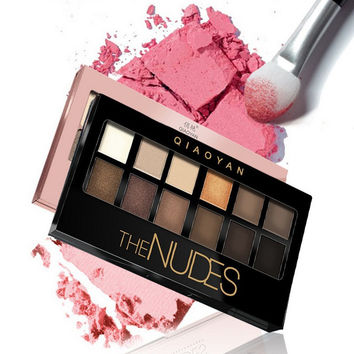 Professional  12 Colors Matte Eyeshadow Palette Set Make Up Shade Shimmer Matte Light Eye Contour Shadow Palette Cosmetic