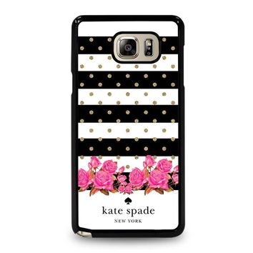 KATE SPADE NEW YORK FLORAL POLKADOTS Samsung Galaxy Note 5 Case Cover