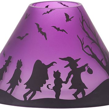 Trick or Treat Glass Large Candle Shade