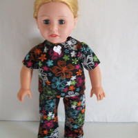 Handmade for American Girl Doll  Colorful 2 Pc Outfit Top by vw53