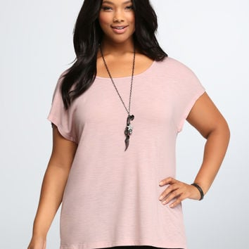 Lace Tie Back Swing Tee